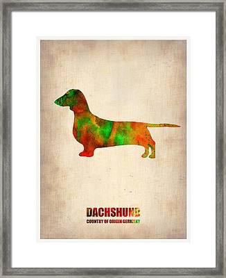 Dachshund Poster 2 Framed Print by Naxart Studio