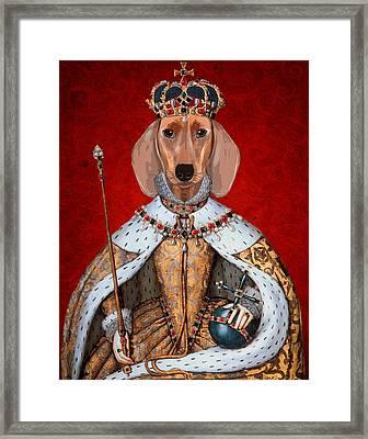 Dachshund Queen Framed Print by Kelly McLaughlan