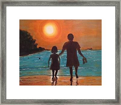Dad And Daughter Framed Print by Brindha Naveen