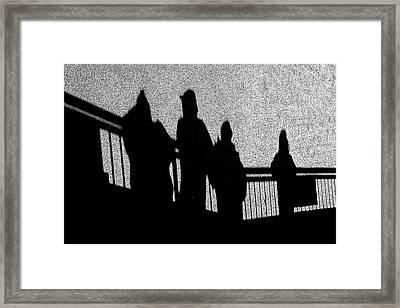 Dad And Three Boys Framed Print by Tom Gari Gallery-Three-Photography