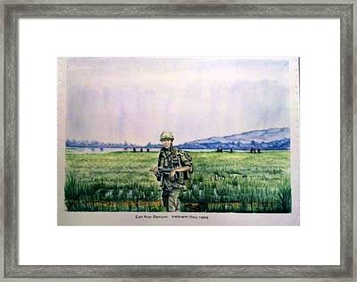 Framed Print featuring the painting Dad In Viet Nam Sold by Richard Benson