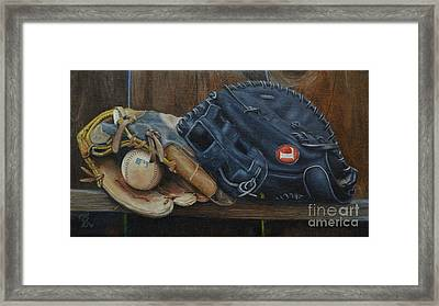 Let's Play Catch Framed Print by Ralph Taeger