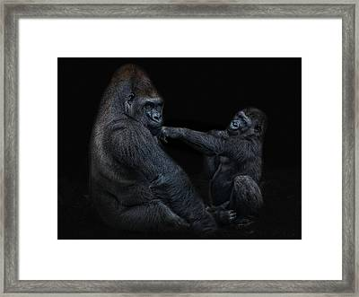 Daddy Is A Left Hook Like This Framed Print