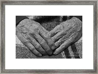 Daddys Hands Framed Print by D Hackett