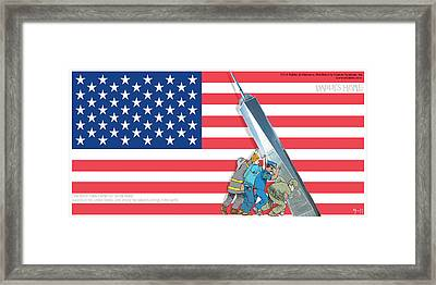 Daddys Home 9/11 Tribute Framed Print by Tony Rubino
