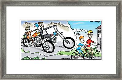Daddy's Home Father And Son Dream Framed Print by Tony Rubino
