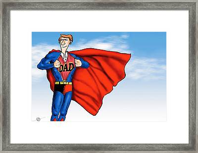 Daddys Home Superman Dad Framed Print by Tony Rubino