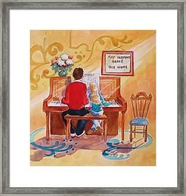 Daddy's Little Girl Framed Print by Marilyn Jacobson