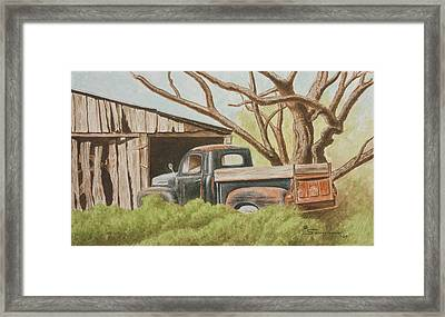 Daddys Pickup Framed Print by C Wilton Simmons Jr
