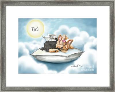 Daddy's Pillow In Heaven Framed Print by Catia Cho