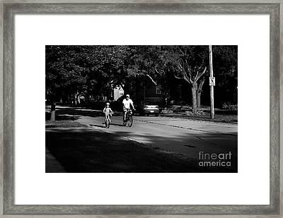 Daddy's Shadow Framed Print
