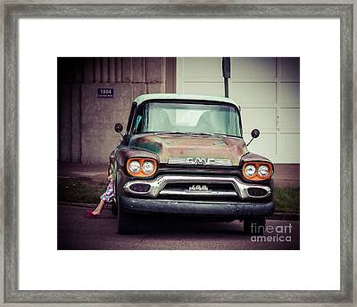 Daddy's Truck Framed Print by Perry Webster