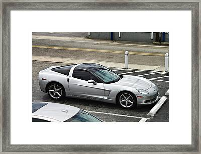 Dad's Corvette  Framed Print