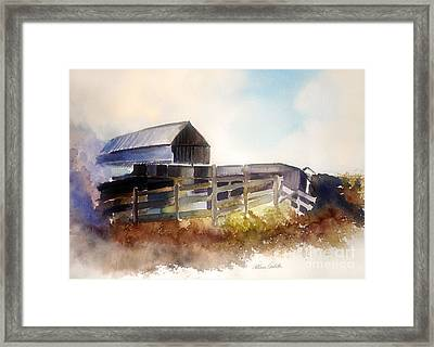 Dad's Farm Framed Print