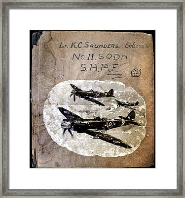 Dad's Flight Training Logbook Framed Print