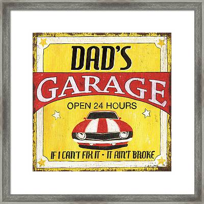 Dad's Garage Framed Print