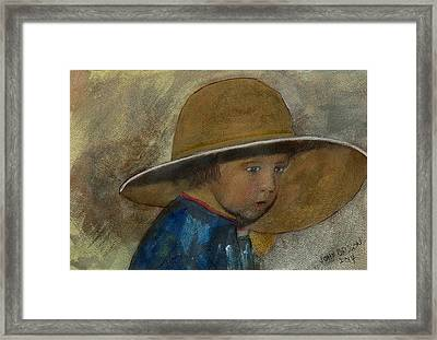 Dad's Hat Framed Print