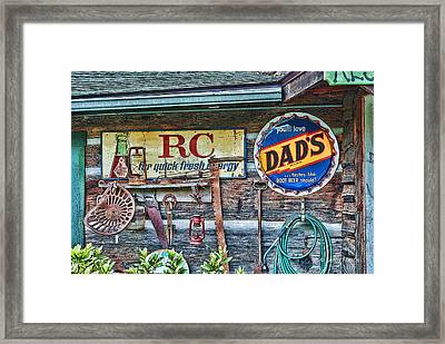 Framed Print featuring the photograph Dad's by Kenny Francis