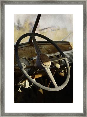 Dads Old Truck Framed Print by JC Photography and Art