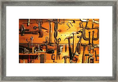 Dads Tools 3 Framed Print by Will Boutin Photos