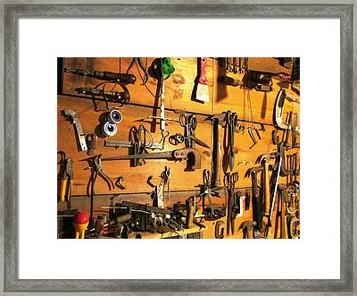 Dads Tools Framed Print by Will Boutin Photos