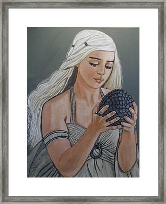 Daenerys Dragon Queen Framed Print by Tammy Rekito