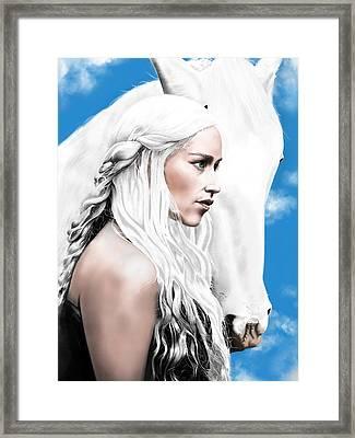 Daenerys Targaryen Framed Print by Andrew Harrison