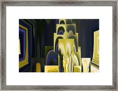 Daffodil Abstract Framed Print by Pat Exum