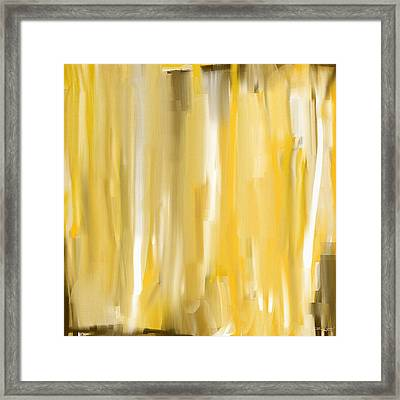 Daffodil Cream Framed Print by Lourry Legarde
