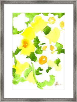 Daffodil Impressions Framed Print