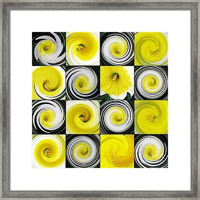 Daffodil Spring Mosaic Framed Print