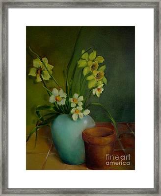 Daffodils                   Copyrighted Framed Print by Kathleen Hoekstra