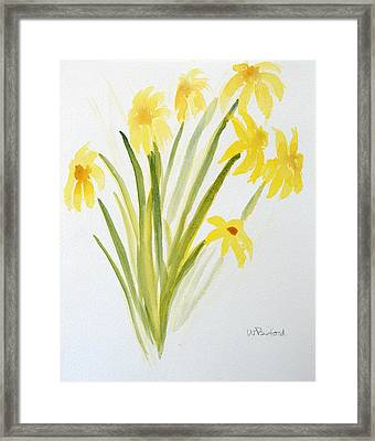 Daffodils For Mothers Day Framed Print by Wade Binford