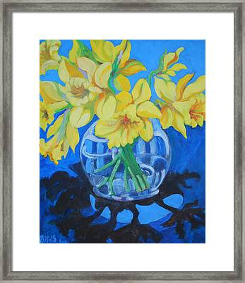 Daffodils Framed Print by Rufus Norman