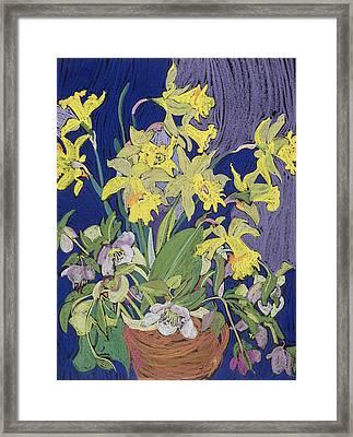 Daffodils With Jug Framed Print