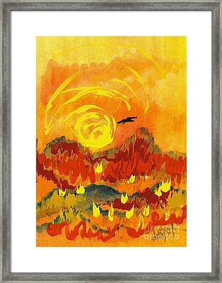 D'agony Framed Print
