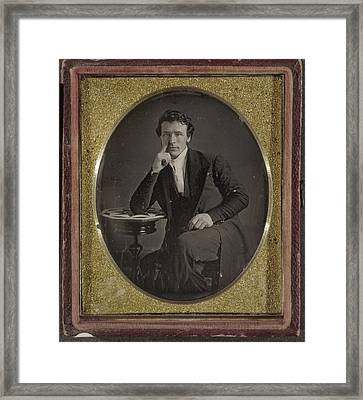Daguerreotype Man, C1844 Framed Print by Granger