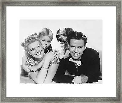 Dagwood And Blondie Movie Framed Print by Underwood Archives