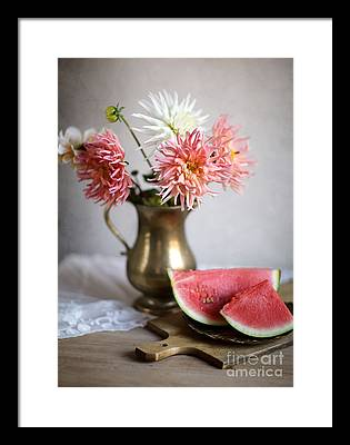 Watermelon Framed Prints