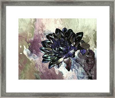 Framed Print featuring the digital art Dahlia Art by Shirley Mangini