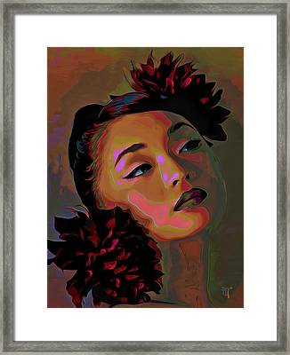 Dahlia Framed Print by  Fli Art