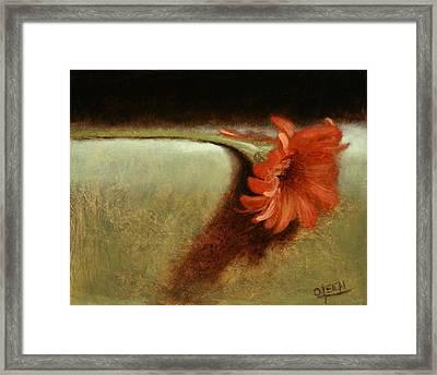 Dahlia Flower Framed Print by Christy Olsen