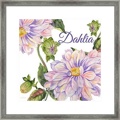 Dahlia-jp2593 Framed Print by Jean Plout