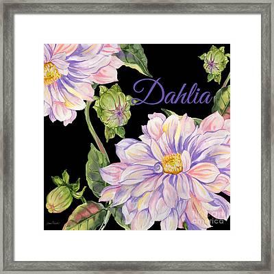 Dahlia-jp2603 Framed Print by Jean Plout