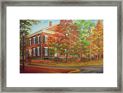 Dahlonega's Gold Museum In Autumn Framed Print