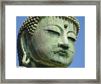 Framed Print featuring the photograph Daibutsu 1 by Larry Knipfing