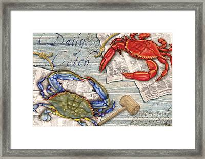 Daily Catch Crabs Framed Print by Paul Brent