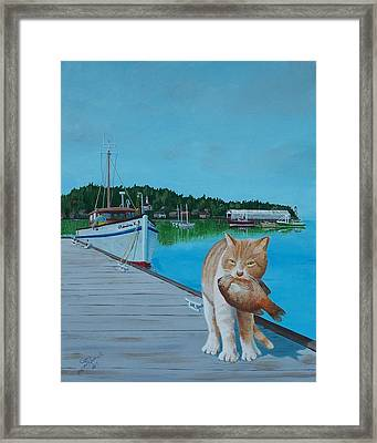 Daily Catch Framed Print by Gene Ritchhart