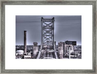 Daily Commute - Ben Franklin Bridge Framed Print