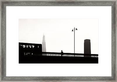 Daily Commute London Framed Print by Paul Bucknall